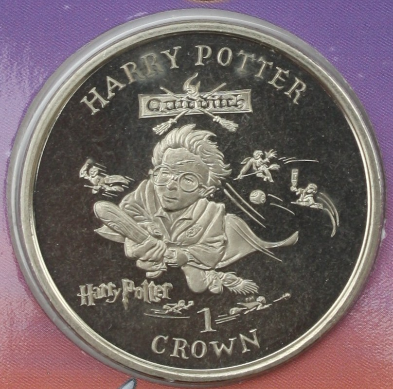 2001 Isle Of Man Cupro Nickel Harry Potter Harry S First